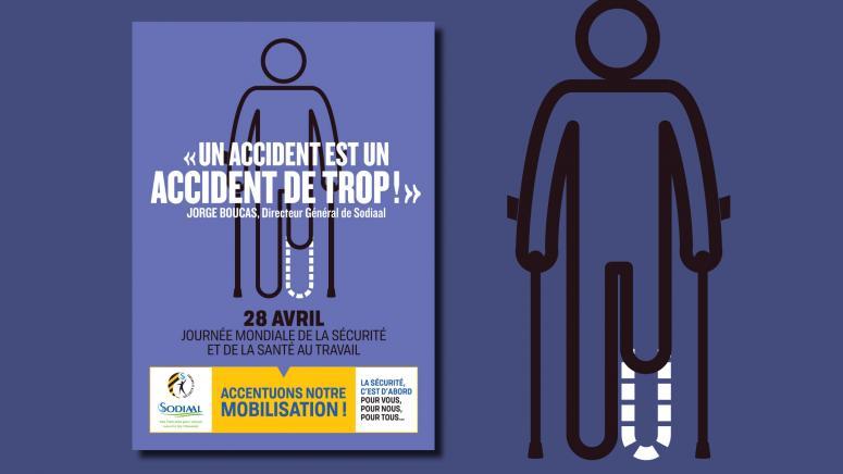 Affiche Sodiaal pour la journée mondiale de la sécurité en entreprise