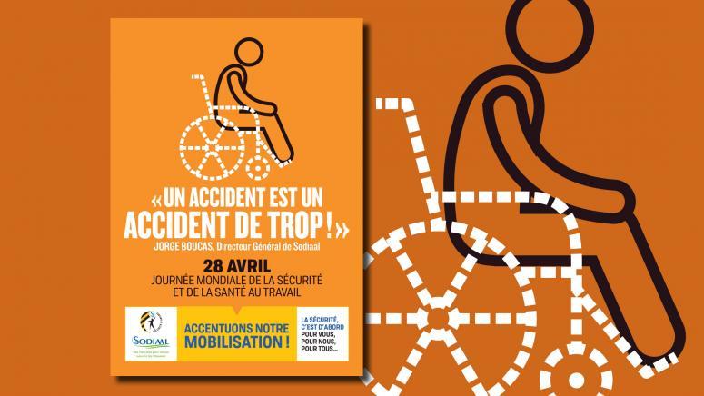 Affiche pour la journée mondiale de la sécurité en entreprise