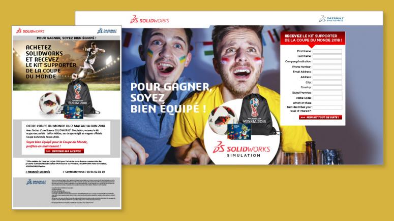 E-marketing - site événement SolidWorks