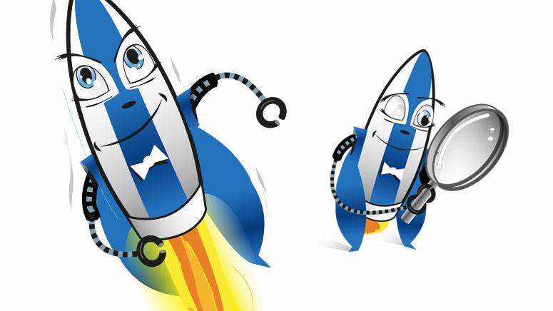 Illustration mascotte fusée Eurenco QP8