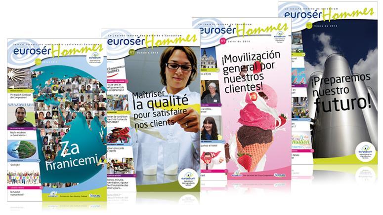 Couverture des journaux interne de Eurosérum