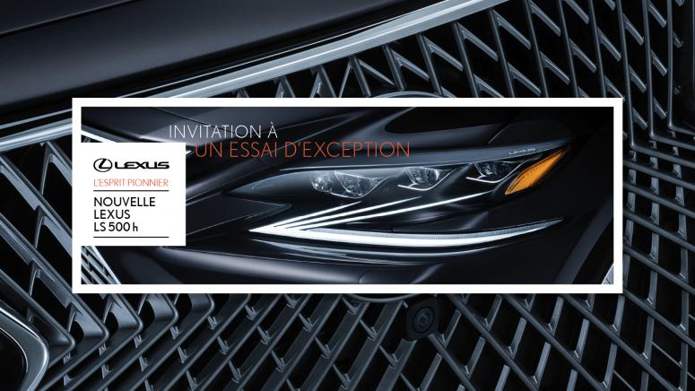 Carton Lexus LS500h en réalité augmentée