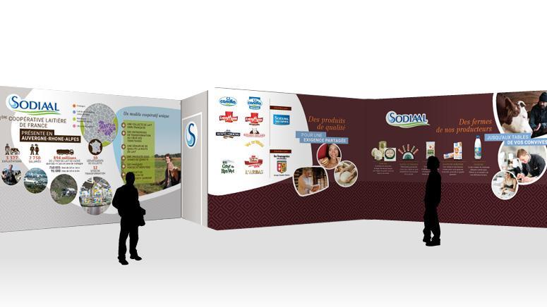 Création du stand Sodiaal Food expert - Planète Apro