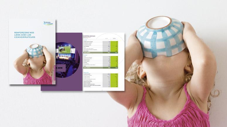 Création du design graphique du rapport annuel Sodiaal Union