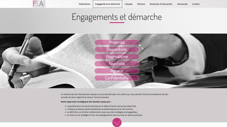 Création du site FLA avocats - Kissagram Design