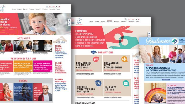 Création du site web Robert Laplane