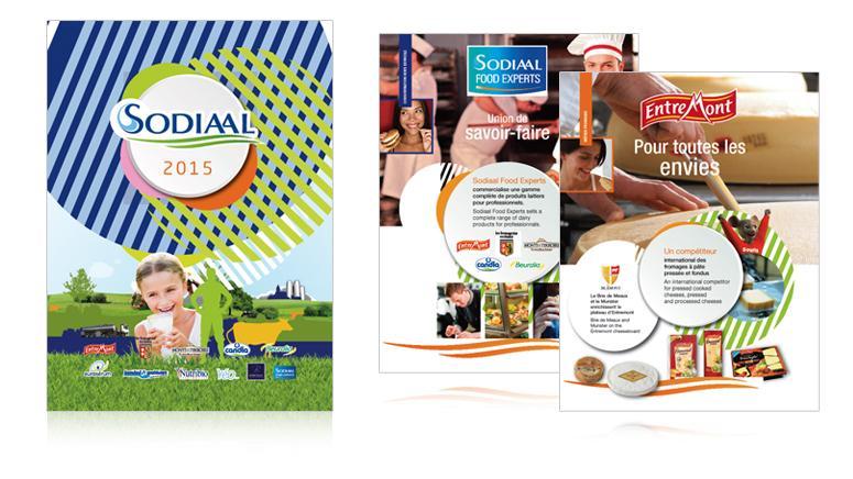 couverture et page interne de l'agenda 2015 sodiaal